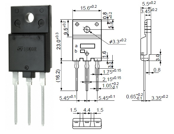 BUH517 | Transistor | N-SI,SW,HOT | TO-3PF